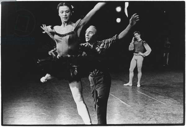 George Balanchine, New York City Ballet, 1960 (b/w photo)
