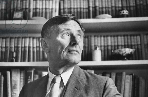 Christopher Isherwood, Hampstead, London, 1961 (b/w photo)