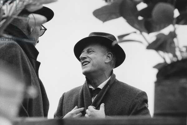 Stanley Kramer and Spencer Tracy, c.1959 (b/w photo)
