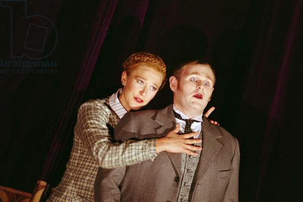 Laura Mitchell as Kristina and Christopher Turner as Janek in The Makropulos Case, 2010 (photo)
