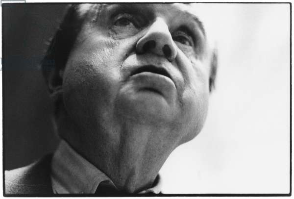 Francis Bacon, London, 1985 (b/w photo)