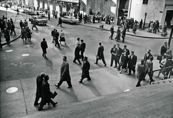 Wall Street, New York, 1960 (b/w photo)