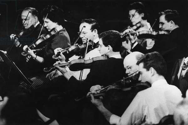 Belgrade Philharmonic, Fairfield Hall, Croydon, 1962 (b/w photo)