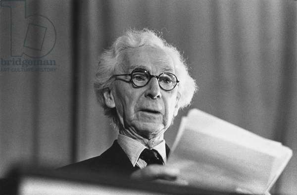 Bertrand Russell, 1961 (b/w photo)