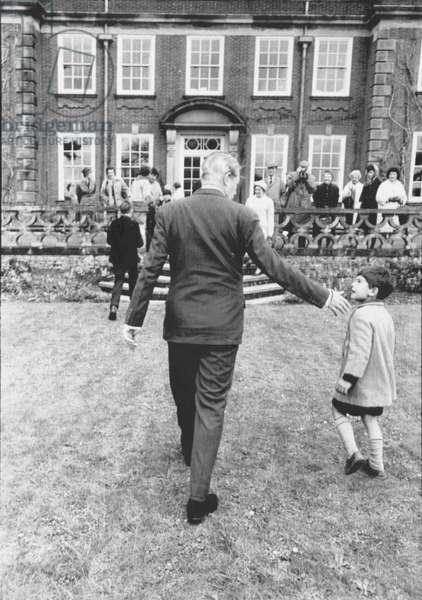 Harold MacMillan at Birch Grove (b/w photo)
