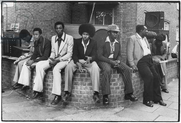 Notting Hill, London, 1980 (b/w photo)