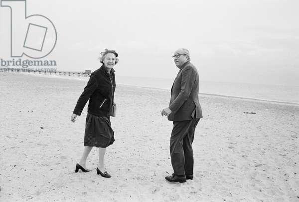 Roy Jenkins, Great Yarmouth, 1982 (b/w photo)