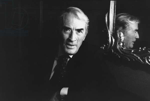 Gregory Peck, Connaught Hotel, London, 1989 (b/w photo)