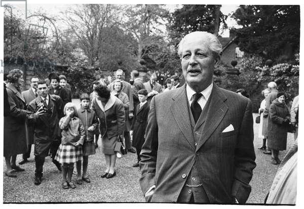 Harold Macmillan, Sussex, 1963 (b/w photo)