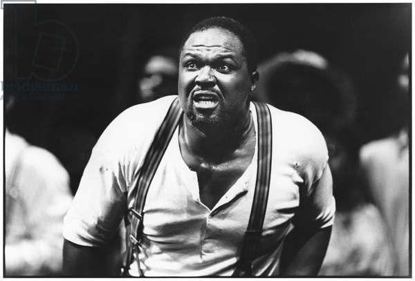 Willard White in Porgy and Bess, 1988 (b/w photo)