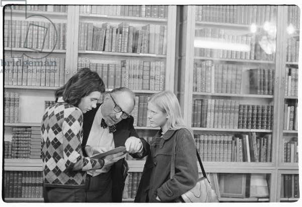 Foyles book shop, Charing Cross Road, London, 1972 (b/w photo)