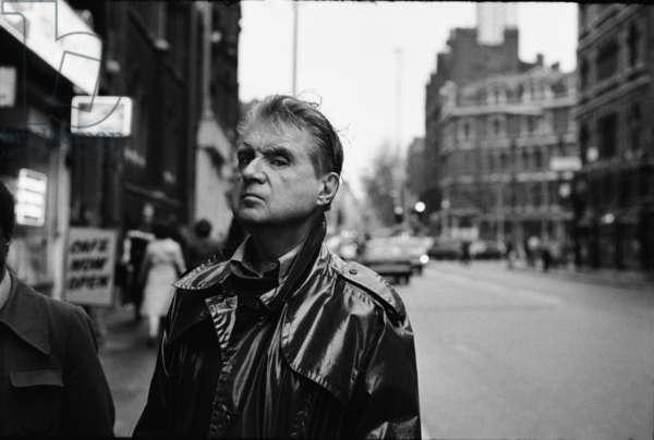 Francis Bacon, Charing Cross, London (b/w photo)