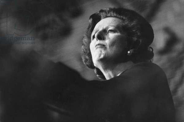 Margaret Thatcher, 1983 (b/w photo)