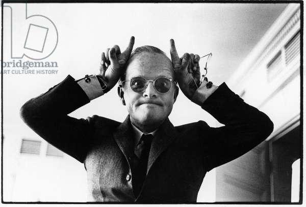 Truman Capote, London, 1968 (b/w photo)