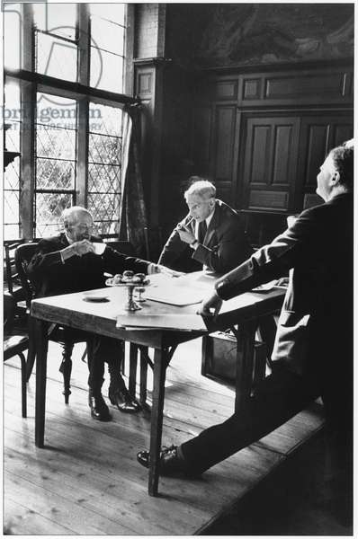 Clement Attlee at Toynbee Hall, London, 1960s (b/w photo)