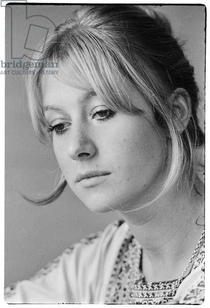 Helen Mirren, 1969 (b/w photo)