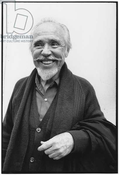 Conlon Nancarrow, 1985 (b/w photo)