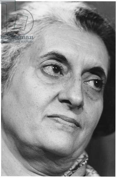 Indira Gandhi (b/w photo)