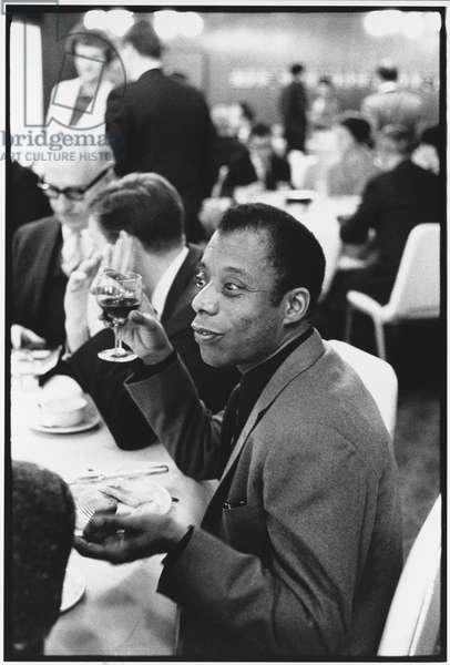 James Baldwin, 1965 (b/w photo)