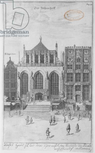 The Artus Court, 1687 (etching on blotting paper)
