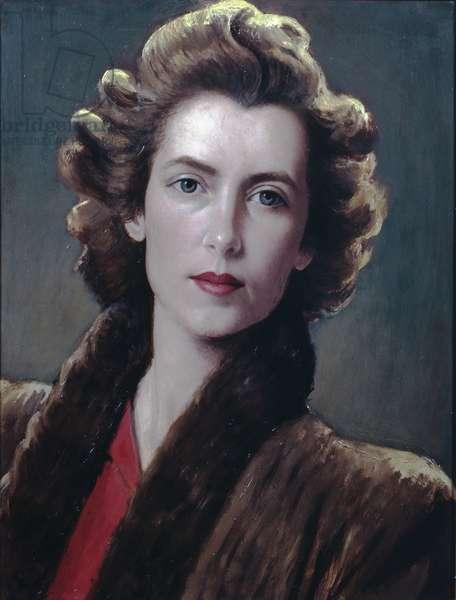 Fur collar (oil on canvas)