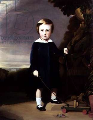 Portrait of a Child with a Wooden Top
