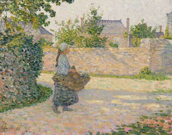 Peasant Girl Returning to the Village, 1893 (oil on canvas)