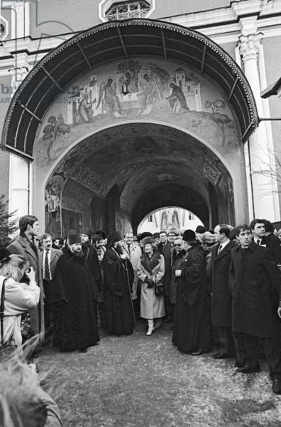 British Prime Minister Margaret Thatcher on an official visit to the USSR, Zagorsk, 1987 (photo)