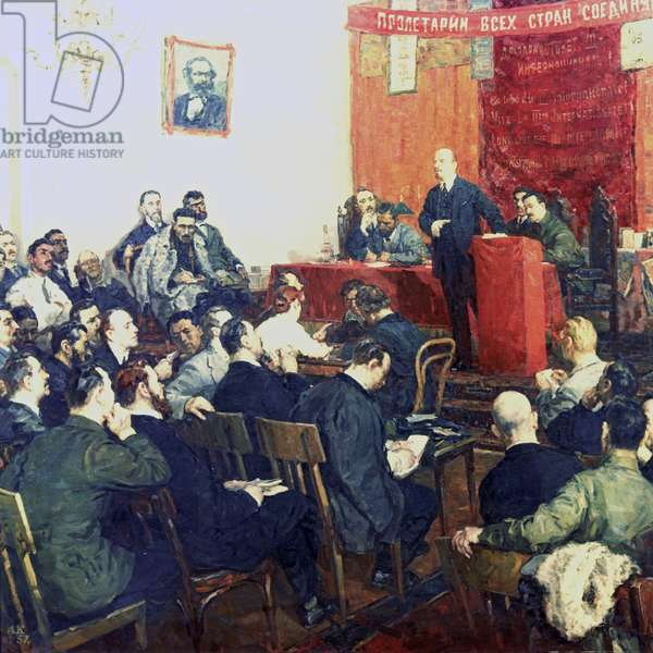 Vladimir Lenin speaking at the First Congress of the Communist International, March 1919