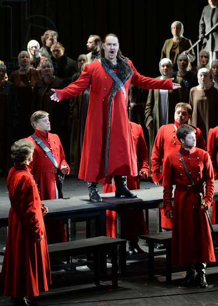 """Dmitry Ulyanov as Prince Ivan Khovansky during a dress rehearsal of the opera """"Khovanshchina"""" performed at the Stanislavsky and Nemirovich-Danchenko Music Theater, Moscow, 15th February 2015 (photo)"""