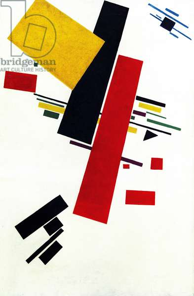 Dynamic Suprematism no.38, 1916  (oil on canvas)