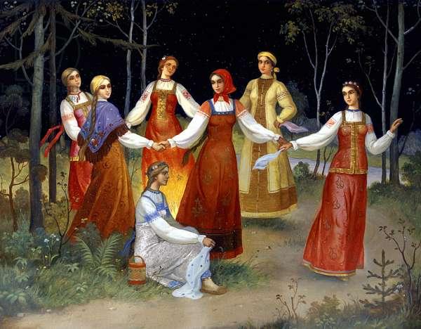 Scene from the 'Snow Maiden' by Nikolai Rimsky-Korsakov (w/c on paper)
