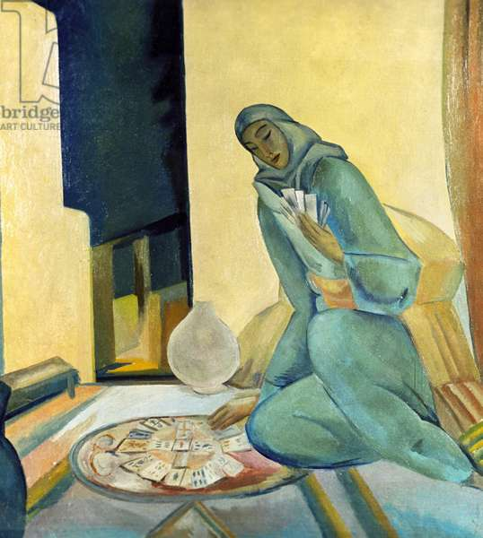 Fortune-Teller Evening, 1916 (oil on canvas)