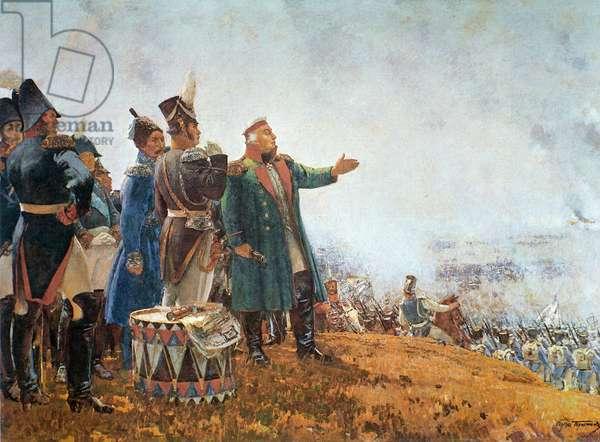 Kutuzov on the Borodino Field (oil on canvas)