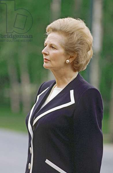 British Prime Minister Margaret Thatcher, 1990 (photo)