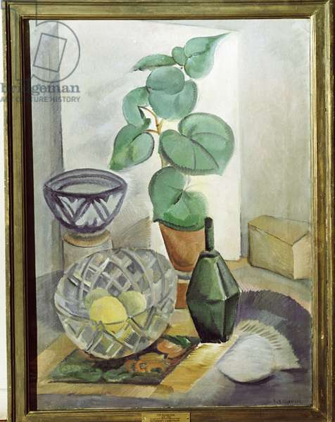 Still Life with Cut Glass (oil on canvas)