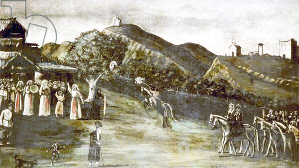 A Wedding in the Old-Time Georgia, 1916 (oil on oilcloth)