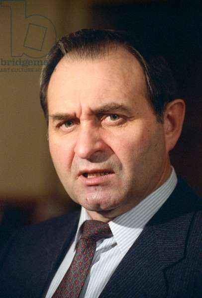 Minister of Internal Affairs of the Russian Federation Victor Barannikov at the 7th Congress of People's Deputies of Russia (1-14 December, 1992, Moscow), 1992 (photo)