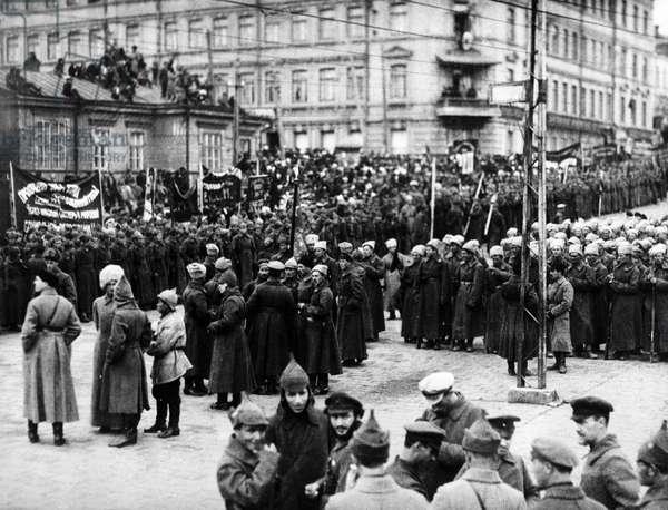 Parade of People's Revolutionary Army, 1922 (b/w photo)