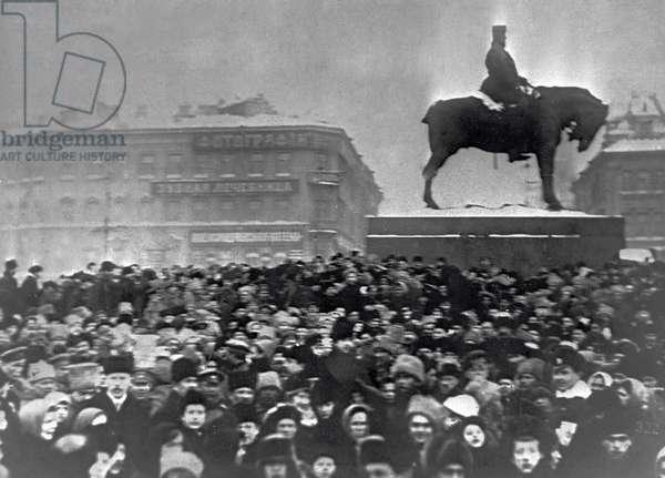 February revolution, 1917 (b/w photo)