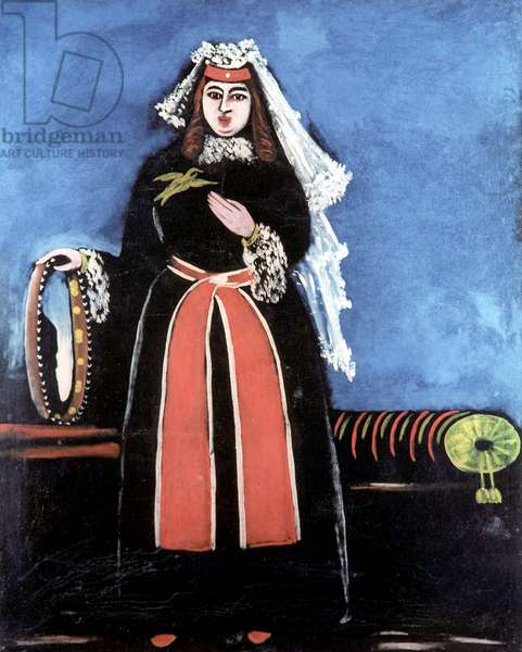 Georgian with Tambourine, 1909 (oil on rubber sheet)