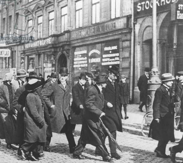 Vladimir Lenin in Stockholm, 1917 (b/w photo)
