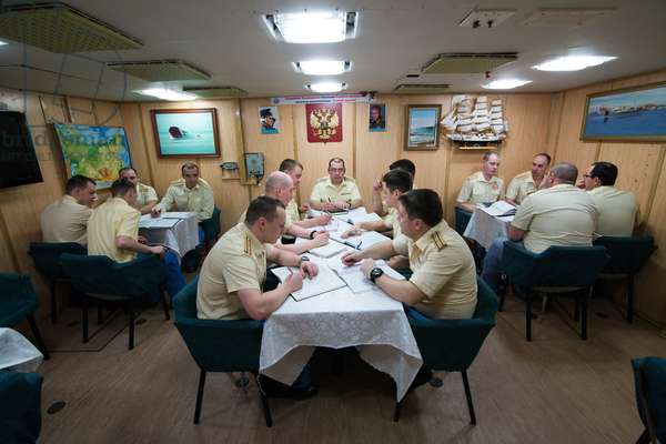 The Captina's stateroom aboard the K-535 Yuri Dolgoruky nuclear submarine, 2019 (photo)