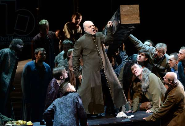 """Scene from the opera """"Khovanshchina"""" performed at the Stanislavsky and Nemirovich-Danchenko Music Theater, Moscow, 15th February 2015 (photo)"""