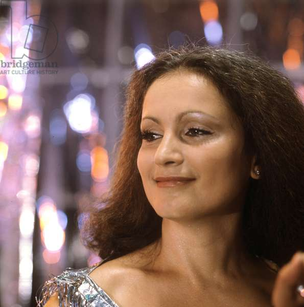 Sofia Rotaru, people's artist of the Ukrainian SSR and of the Moldovian SSR, winner of prize of the Leninist Komsomol, winner of Golden Disk-86, 1988 (photo)