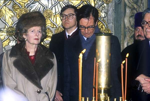 British Prime Minister Margaret Thatcher on an official visit to the USSRphoto)