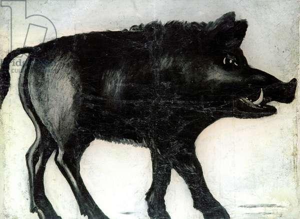 Black Boar, 1905 (oil on rubber sheet)