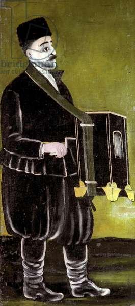 Organ-Grinder, 1905 (oil on rubber sheet)