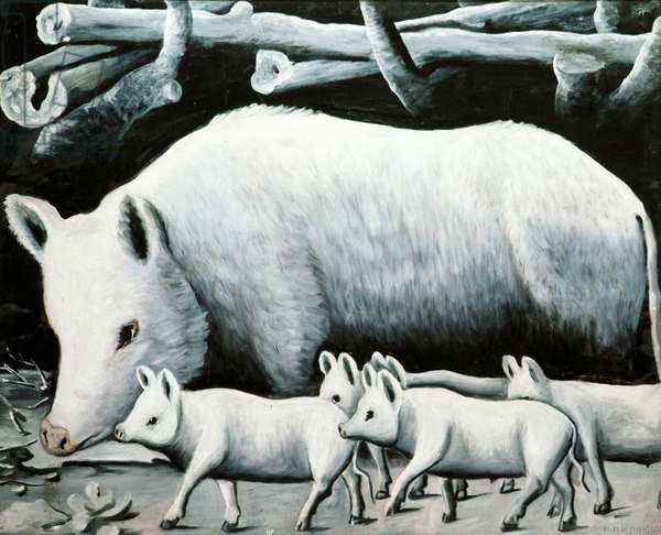 The White Sow and Her Litter