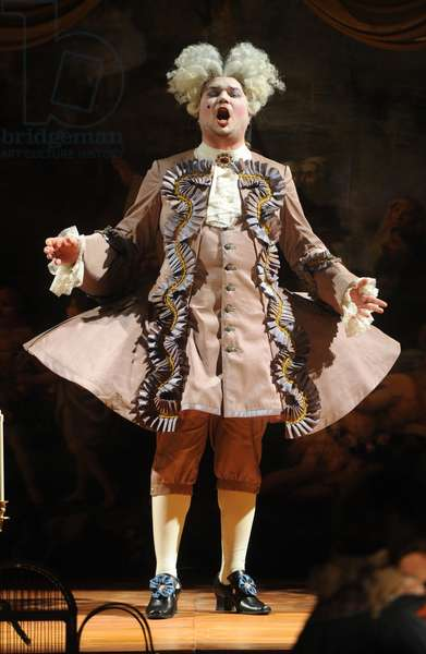 Yevgeny Nagovitsyn as An Italian Singer in a scene from Richard Strauss' opera Der Rosenkavalier (The Knight of the Rose) staged by Stephen Lawless at the State Academic Bolshoi Theater, Moscow, 2012 (photo)